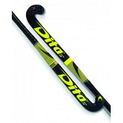Stick de Hockey Dita FiberTec Junior C40 Yellow-Negro
