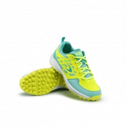 Zapatillas Junior de Hockey Hierba LGHT 100 Amarillo y Menta