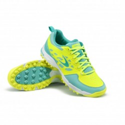 "Zapatillas de Hockey Hierba Dita STBL 500 ""Slim Fit"" Fluo Yellow-Mint"